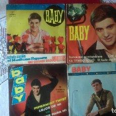 Discos de vinilo: AB-620.- LOTE DE - 4 - DISCOS - EPS.- DEL CANTANTE -- BABY-- DISCOS COLUMBIA , VER FOTOS DE LOS 4 . Lote 178765037