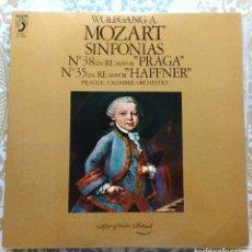 Discos de vinilo: MOZART SINFONÍAS 35 Y 38 DISCO LP. Lote 178768601