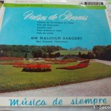 Discos de vinilo: LP. VALSES DE STRAUS -- SIR MALCOLM SARGENT. 1963. Lote 178772143