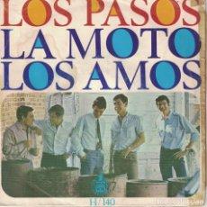 Dischi in vinile: LOS PASOS - LA MOTO / LOS AMOS (SINGLE ESPAÑOL, HISPAVOX 1966). Lote 178774498