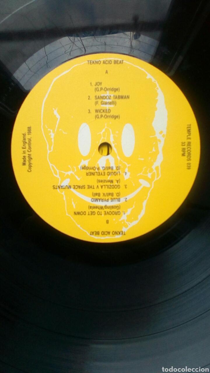 Discos de vinilo: Tekno Acid Beat - Temple Records, 1988. England. - Foto 4 - 178794465