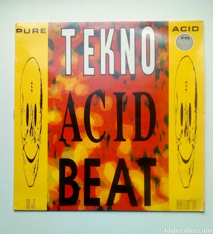 TEKNO ACID BEAT - TEMPLE RECORDS, 1988. ENGLAND. (Música - Discos - LP Vinilo - Techno, Trance y House)