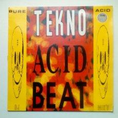 Discos de vinilo: TEKNO ACID BEAT - TEMPLE RECORDS, 1988. ENGLAND.. Lote 178794465