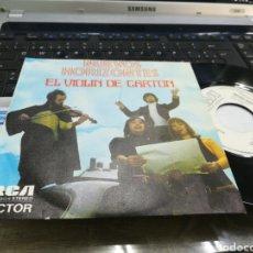 Discos de vinilo: NUEVOS HORIZONTES SINGLE PROMOCIONAL EL VIOLÍN DE CARTÓN 1973. Lote 178801393