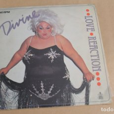 Discos de vinilo: DIVINE, LOVE REACTION, 45 RPM, EDITADO POR HISPAVOX, AÑO 1983. Lote 178817748
