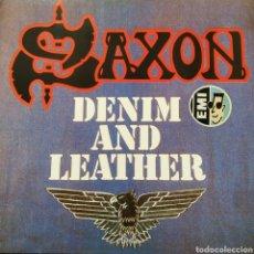 Discos de vinilo: SAXON - DENIM AND LEATHER - EUROPA - EMI - 1981 - EXCELENTE. Lote 178822172