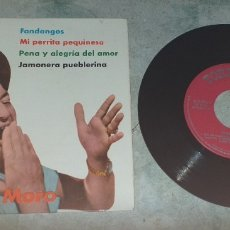 Discos de vinilo: EMILIO EL MORO: FANDANGOS +3 (1962. TOREADOR/ IBEROFON). Lote 178834427