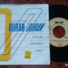 Discos de vinilo: SINGLE VINILO DURAN DURAN. ¿HAY ALGO QUE DEBERIA SABER?. Lote 178834801