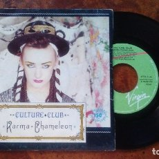 Discos de vinilo: CULTURE CLUB SINGLE KARMA CHAMELEON MADE IN SPAIN 1983. Lote 178835345