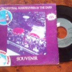 Discos de vinilo: ORCHESTRAL MANOEUVRES IN THE DARK (OMD)- SOUVENIR, SINGLE SPAIN 1981. Lote 178836267