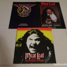 Discos de vinilo: MEAT LOAF - 3 TOURBOOK - NEVERLAND EXPRESS - BAD ATTITUDE - DEAD RINGER - BAT OUT OF HELL. Lote 144458866