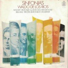 Discos de vinilo: WALDO DE LOS RIOS - SINFONIAS (SINGLE ESPAÑOL, HISPAVOX 1970). Lote 178847965