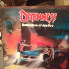 Discos de vinilo: DARKNESS: DEFENDERS OF JUSTICE SELLO TALES OF THRASH ‎– 805 855-928 ED. ALEMANIA 1988. Lote 178855241