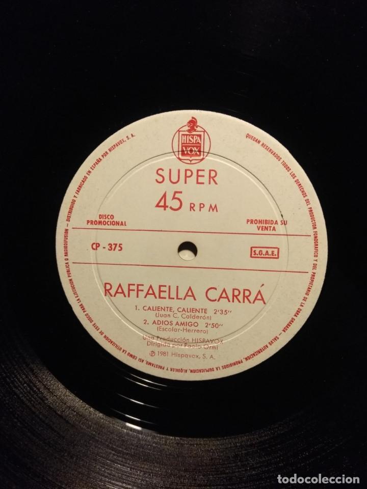 Discos de vinilo: RARE MAXI PROMO RAFFAELLA CARRA : CALIENTE, CALIENTE + ADIOS AMIGO + SUPER RUMBAS - Foto 3 - 178868388