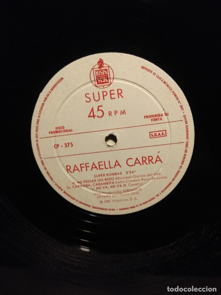 Discos de vinilo: RARE MAXI PROMO RAFFAELLA CARRA : CALIENTE, CALIENTE + ADIOS AMIGO + SUPER RUMBAS - Foto 4 - 178868388