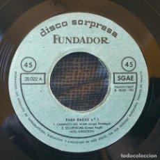 Discos de vinilo: LOS GIRASOLES - MUY RARO EP CON 4 CANCIONES ''DISCO SORPRESA FUNDADOR'' (DE LOS PRIMEROS, AÑO 1962) . Lote 178876433