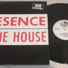 Discos de vinil: PRESENCE / PRESENCE IN THE HOUSE / MAXI-SINGLE 12 INCH. Lote 178876608