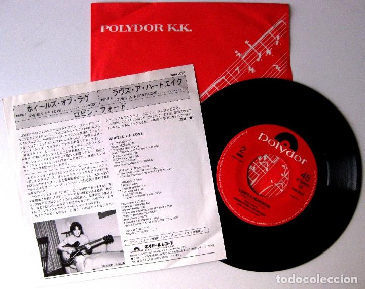 Discos de vinilo: Robben Ford & His Project - Wheels Of Love - Single Polydor 1983 Japan (Edición Japonesa) BPY - Foto 2 - 178886506