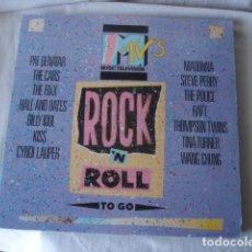 Discos de vinilo: MTV'S ROCK 'N ROLL TO GO . Lote 178888396
