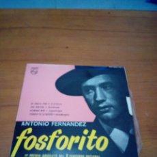 Discos de vinilo: ANTONIO FERNANDEZ FOSFORITO. DE CANELA FINA. UNA VENTARA. HERMANO MIO. TODAVIO YO LA QUIERO. MRV. Lote 178890706