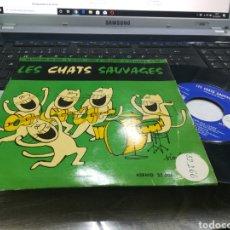 Discos de vinilo: LES CHATS SAUVAGES EP MA P'TITE AMIE EST VACHE + 3 ESPAÑA 1962. Lote 178894277