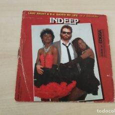 Discos de vinilo: DISCO VINILO MAXI SINGLE INDEEP. Lote 178895707