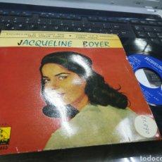 Discos de vinilo: JACQUELINE BOYER EP EXCUSEZ-MOI SI J'AI VINGT ANS + 3 ESPAÑA 1962. Lote 178895917