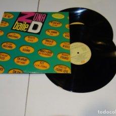 Discos de vinilo: ZONA BAILE D- DOBLE LP 1991 ROXETTE- EMF- RUSS BALLARD. Lote 178896046