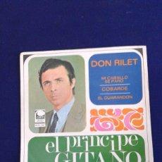 Discos de vinilo: EL PRÍNCIPE GITANO DON RILET, MI CABALLO SE PARÓ.......................... EP 1970..... RARO. Lote 178897818
