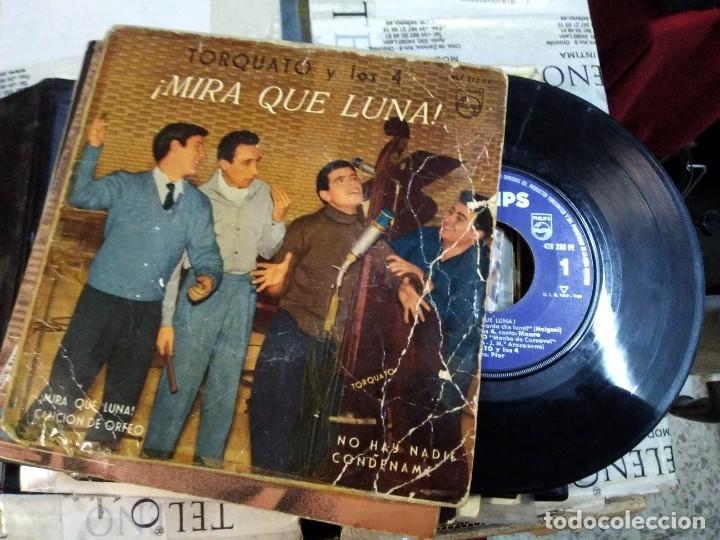 TORQUATO Y LOS 4 MIRA QUE LUNA (Música - Discos de Vinilo - EPs - Solistas Españoles de los 50 y 60)