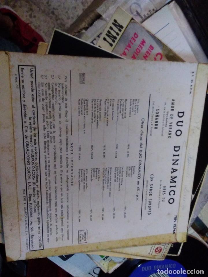 Discos de vinilo: DUO DINAMICO Amor de verano/Soñando/Eres tu/Con sabor europeo EP 1963 La voz de su amo - Foto 2 - 178909680