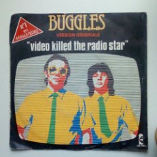 Discos de vinilo: BUGGLES - VIDEO KILLED THE RADIO STAR, ISLAND. 1979. FRANCE.. Lote 178911642