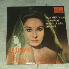 Discos de vinilo: MARIFE DE TRIANA: TENGO MIEDO TORERO +3 (COLUMBIA 1965). Lote 178919125