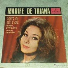 Discos de vinilo: MARIFE DE TRIANA: TORITOS DE PLATA Y ORO +3 (COLUMBIA 1965). Lote 178919248