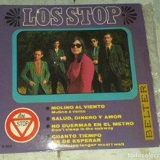 Discos de vinilo: LOS STOP: MOLINO AL VIENTO +3 (BELTER 1967). Lote 178919350