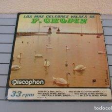 Discos de vinilo: LOS MAS CELEBRES VALSES DE F CHOPIN. Lote 178919405