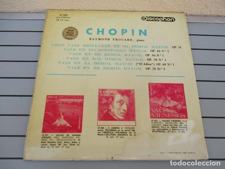 Discos de vinilo: LOS MAS CELEBRES VALSES DE F CHOPIN - Foto 2 - 178919405