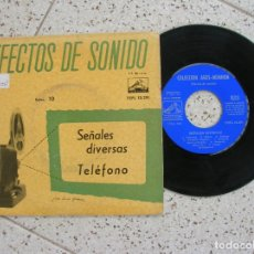 Discos de vinilo: DISCO EFECTOS DE SONIDO SELECION ,10 SEÑALES DIVERSAS TELEFONO AÑO 1959. Lote 178920708