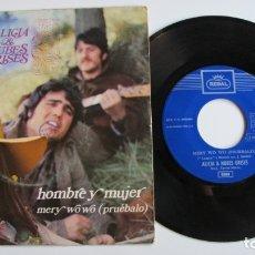 Discos de vinilo: SINGLE - ALICIA & NUBES GRISES - HOMBRE Y MUJER - 1970 - EDITION SPANISH. Lote 178922833