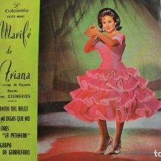 Discos de vinilo: MARIFÉ DE TRIANA - TIENTOS DEL RELOJ - EP COLUMBIA - SCGE 80601 - ESPAÑA 1963. Lote 178924623