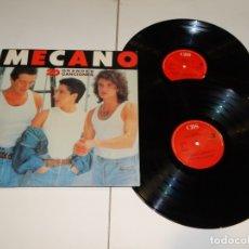 Discos de vinilo: MECANO - DOBLE LP 1989 20 GRANDES CANCIONES. . Lote 178924651
