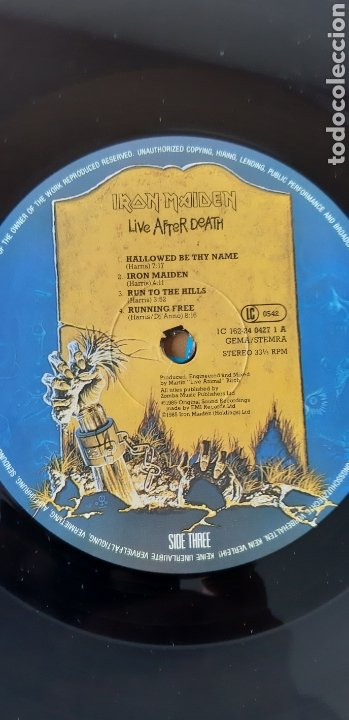 Discos de vinilo: Doble LP. Iron maiden. Live after death. - Foto 5 - 178924762