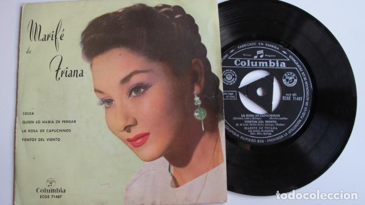 MARIFE DE TRIANA / SOLEA + 3 TEMAS EP 1961 (Música - Discos de Vinilo - Maxi Singles - Flamenco, Canción española y Cuplé)