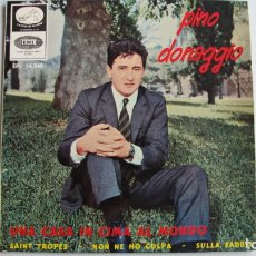 Discos de vinilo: PINO DONAGGIO - UNA CASA IN CIMA AL MONDO + 3 - EP. Lote 178926952