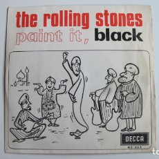 Discos de vinilo: THE ROLLING STONES – PAINT IT, BLACK - SG DECCA ESPAÑOL. 1966.. Lote 178927706