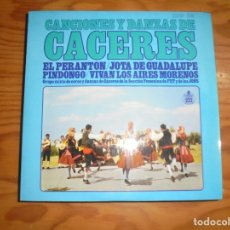 Discos de vinilo: CACERES. CANCIONES Y DANZAS . EL PERANTON + 3. EP . HISPAVOX, 1967. IMPECABLE. Lote 178929585