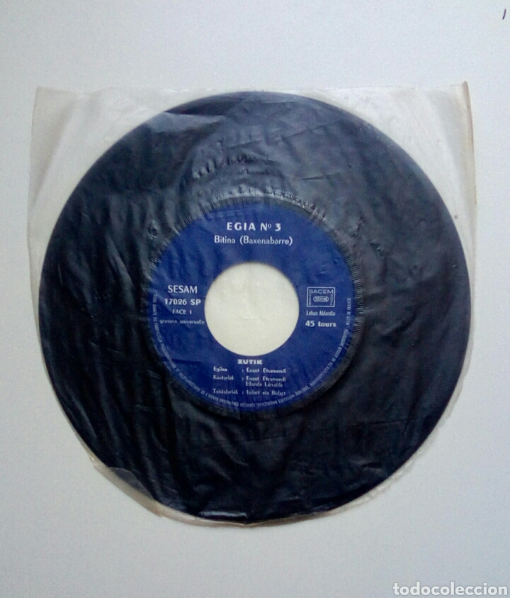 ETXAMENDI ETA LARRALDE - ZUTIK, EGIA N 3. EUSKAL HERRIA. (Música - Discos de Vinilo - EPs - Otros estilos)