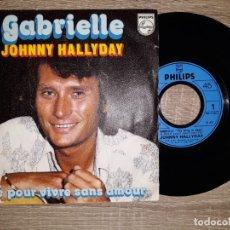 Discos de vinilo: JOHNNY HALLYDAY .GABRIELLE .1976. Lote 178931935