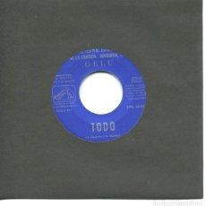Discos de vinilo: GELU / TODO / EL AMOR ES UN FESTIVAL (III FESTIVAL DE BENIDORM) SINGLE 1961. Lote 178932990