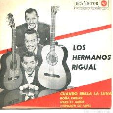 Discos de vinilo: LOS HERMANOS RIGUAL / CUANDO BRILLA LA LUNA + 3 (EP 1963). Lote 178933540